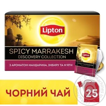 Чай Lipton Spicy Marrakesh чорний з ароматом мандарина апельсина маракуї  імбиру 25 пакетиків - купить, цены на Novus - фото 4