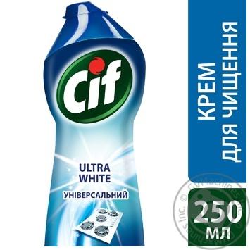Крем Cif Ultra white для чищення з відбілюючим ефектом 250мл - купити, ціни на Novus - фото 3