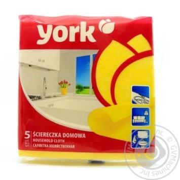 Серветка універсальна York 35*36 5шт - купить, цены на Novus - фото 1