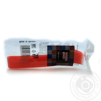 Виделки пластикові склоподібні червоні ВІКЕНД 10 шт - купить, цены на Novus - фото 1