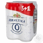 Pasteurized special lager Baltica Nonalcoholic №0 4х500ml