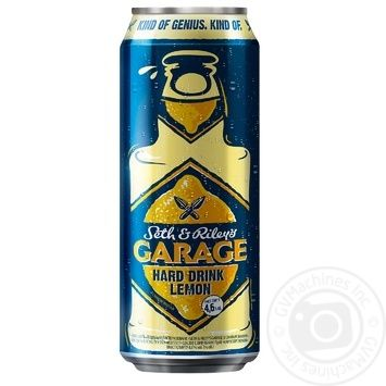Seth & Riley's Garage Hard Lemon light beer 4,6% 0,5l - buy, prices for Furshet - image 1