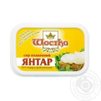 Сыр плавленый Шостка Янтарь 55% 180г - купить, цены на Фуршет - фото 3