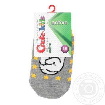 Шкарпетки дит. ACTIVE ультракороткі 17С-87СП р.16 330 сірий х6 - купить, цены на МегаМаркет - фото 1