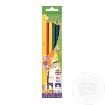 Карандаши цветные ZiBi Kids Line 6 цветов - купить, цены на СитиМаркет - фото 1