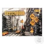 Скетчбук ZiBi Art Line клееный белый блок 100г/м2 А4 24 листа