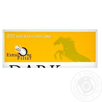 Гильзы для самокруток Dark Horse Extra Long 24мм 200шт - купить, цены на МегаМаркет - фото 1