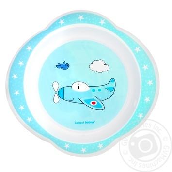 Тарелка Canpol пластиковая детская - купить, цены на МегаМаркет - фото 1