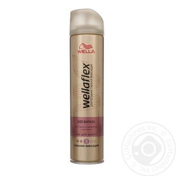 Лак Wella Wellaflex для волос упругая фиксация для чувствительной кожи головы без запаха 250мл Германия - купить, цены на Ашан - фото 1