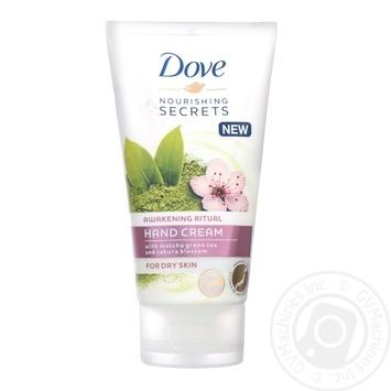 Крем для рук Dove зеленый чай и цветки сакуры 75мл - купить, цены на Novus - фото 1