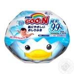 Вологі серветки GOO.N для чутливої шкіри (пластиковий бокс-пінгвін с секретним замком, змінний блок 70шт