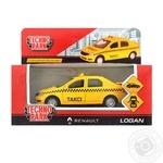 Іграшкова машина Technopark Renault Logan таксі