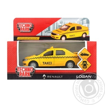 Technopark Renault Logan taxi toy
