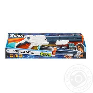 Бластер скорострільний Zuru EXCEL Vigilante X-Shot 6 банок, 10 патронів