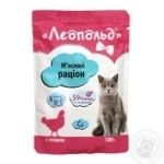Food Leopold with poultry meat for cats 100g