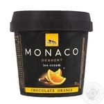 Морозиво Три Ведмеді Monaco Dessert Шоколад-Апельсин у пластиковому стаканчику 70г