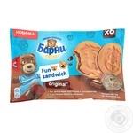 Пирожное бисквитное Барни Фан сэндвич Оригинал с начинкой с кусочками темного шоколада 6*30г 180г