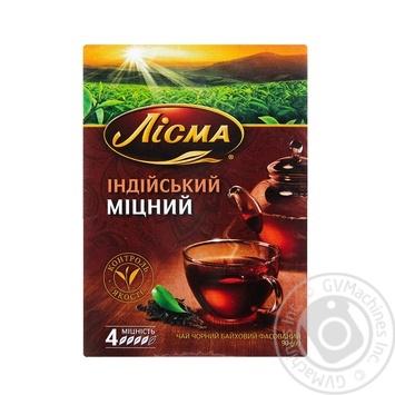 Чай чёрный Лисма Индийский Крепкий листовой 90г