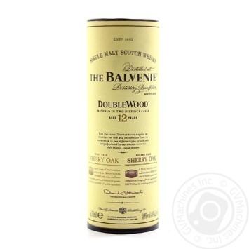 Віскі Balvenie Double Wood 40% 50мл 12років - купити, ціни на МегаМаркет - фото 2