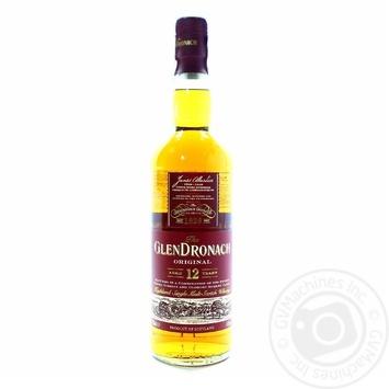 Віскі Glen Dronach Original 12 років 43% 0,7л - купити, ціни на МегаМаркет - фото 1
