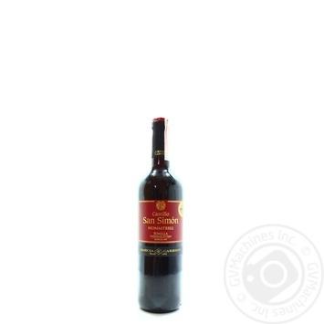 Вино Castillo San Simon Jumilla червоне сухе 12,5% 0,75л