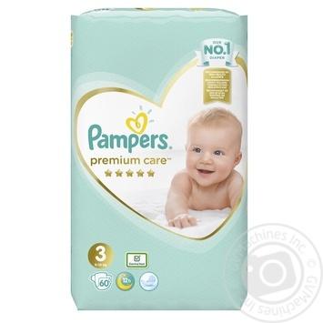 Подгузники Pampers Premium Care 3 Midi 6-10кг 60шт - купить, цены на Novus - фото 2