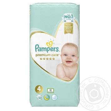 Подгузники Pampers Premium Care 4 Maxi 9-14кг 52шт - купить, цены на Novus - фото 2