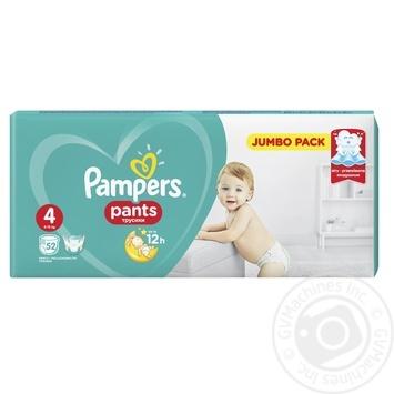 Подгузники-трусики Pampers Pants 4 Maxi 9-15кг 52шт - купить, цены на Фуршет - фото 3