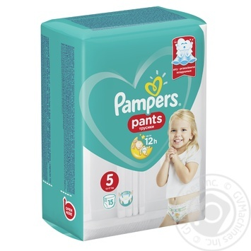 Підгузки-трусики Pampers Pants 5 Junior 12-17кг 15шт - купити, ціни на Novus - фото 2