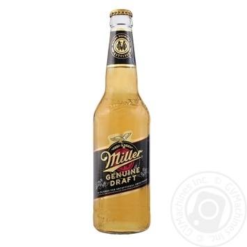 Пиво Miller Genuine Draft светлое 4,7% 0,45л