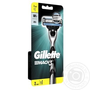 Бритва Gillette Mach3 с 2 сменными картриджами - купить, цены на Таврия В - фото 3