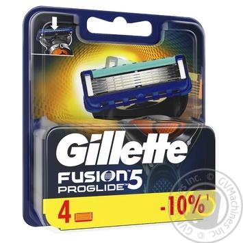 Картриджи для бритья Gillette Fusion ProGlide сменные 4шт - купить, цены на Метро - фото 2