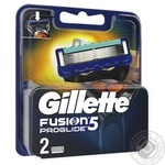 Картриджи  для бритья Gillette Fusion Proglide сменные 2шт - купить, цены на Метро - фото 3