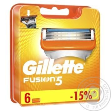 Картриджі для гоління Gillette Fusion змінні 6шт - купити, ціни на Novus - фото 3
