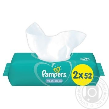 Cалфетки Pampers Fresh Clean 2х52шт - купить, цены на СитиМаркет - фото 4