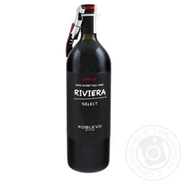 Вино Koblevo Riviera Select червоне напівсолодке 9.5-13% 0,75л - купити, ціни на Ашан - фото 2