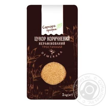 Сахар тросниковый Саркара продукт нерафинированный коричневый 1кг - купить, цены на Varus - фото 1