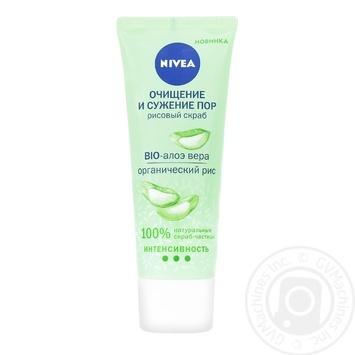 Nivea Bio-aloe Vera Organic Rice Face Scrub 75ml - buy, prices for Tavria V - image 1