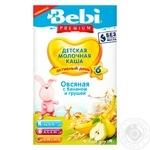 Каша молочна вівсяна з бананом і грушею Bebi Premium 200г