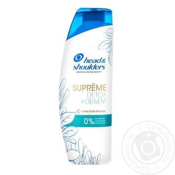 Шампунь H and S 300 мл проти лупи Supreme Detox об'єм з олією аргани