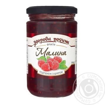 Zdorova rodyna Raspberries with sugar 350g - buy, prices for Tavria V - image 1