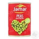 Горошек зеленый консервированный Jamar 400г
