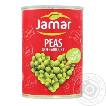 Peas green canned Jamar 400g - buy, prices for Furshet - image 1