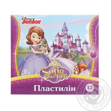 Пластилін Софія Мицар 251831 12кол 210г - купити, ціни на Фуршет - фото 1