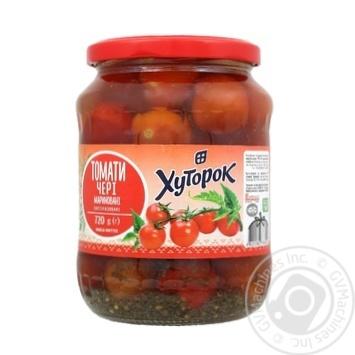 Khutorok Cherry Marinated Tomatoes 720g - buy, prices for Furshet - image 1