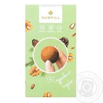 Цукерки Sunfill з кедровим горіхом без цукру та глютену 150г - купити, ціни на МегаМаркет - фото 1
