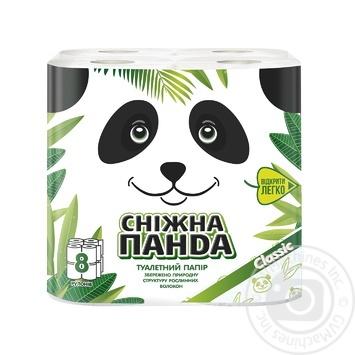 Snow Panda Toilet Paper 8pcs - buy, prices for MegaMarket - image 1