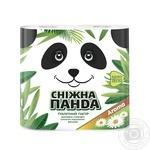 Toilet paper Snizhna panda white 4pcs Ukraine