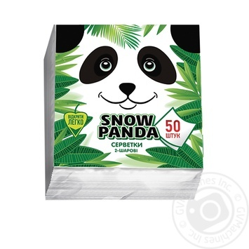 Snow Panda Single-Layer Napkins 24cm*50pc