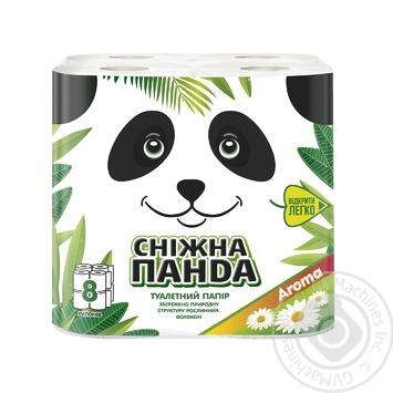 Бумага туалетная Снежная панда Арома 8шт